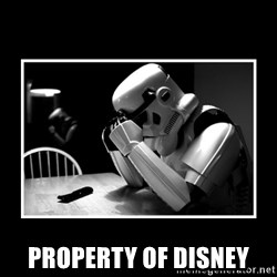 Sad Trooper - PROPERTY of disney