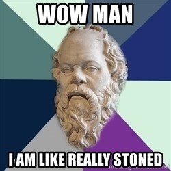 philosopher - wow man I am like really stoned