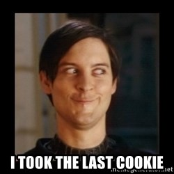 Tobey_Maguire - I took the last cookie
