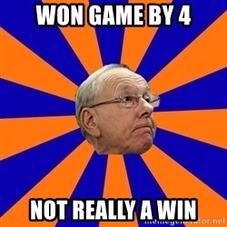Jim Boeheim - Won game by 4 Not Really A Win