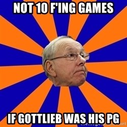 Jim Boeheim - not 10 f'ing games if gottlieb was his pg