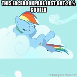 Rainbow Dash Cloud - this facebookpage just got 20% cooler
