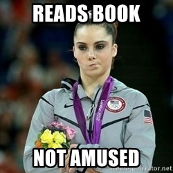 McKayla Maroney Not Impressed - Reads book Not Amused
