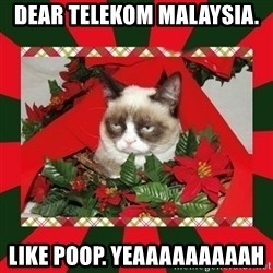 GRUMPY CAT ON CHRISTMAS - Dear Telekom Malaysia.  like poop. yeaaaaaaaaah