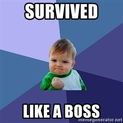Success Kid - survived  like a boss