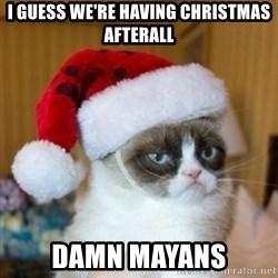 Grumpy Cat Santa Hat - i guess we're having christmas afterall damn mayans