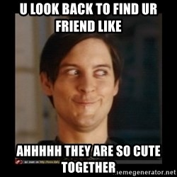 Tobey_Maguire - U LOOK BACK TO FIND UR FRIEND LIKE  AHHHHH THEY ARE SO CUTE TOGETHER