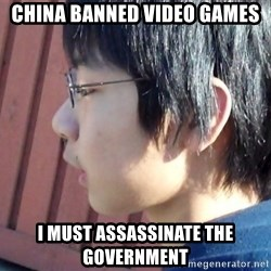 Asian Starcraft kid - china banned video games i must assassinate the government
