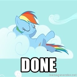 Rainbow Dash Cloud -  done