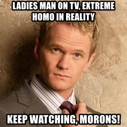 BARNEYxSTINSON - ladies man on tv, extreme homo in reality keep watching, morons!