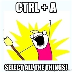 All the things - ctrl + a select all the things!