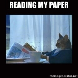 i should buy a boat cat - READING MY PAPER