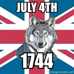 Sir Courage Wolf Esquire - JULY 4TH 1744