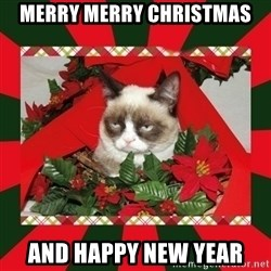 GRUMPY CAT ON CHRISTMAS - Merry merry christmas and happy new year