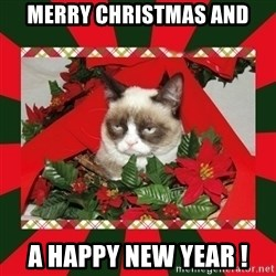GRUMPY CAT ON CHRISTMAS - merry christmas and a happy new year !