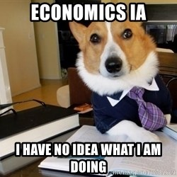 Dog Lawyer - economics IA i have no idea what i am doing