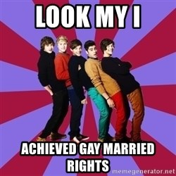 typical 1D - LOOK MY I  ACHIEVED GAY MARRIED RIGHTS