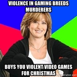 Sheltering Suburban Mom - Violence in gaming breeds murderers buys you violent video games for christmas