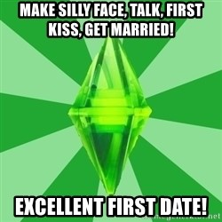 Sims 3 - Make silly face, talk, first kiss, get married! excellent first date!