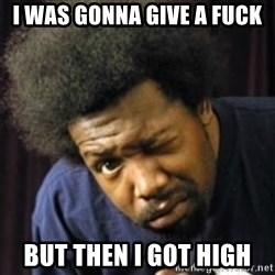 AfroMan - I was gonna give a fuck But then I got high