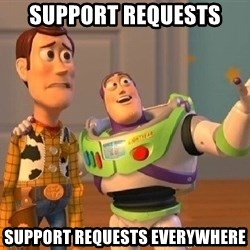 Consequences Toy Story - Support Requests Support requests everywhere