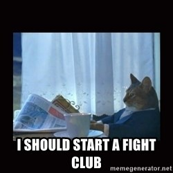 i should buy a boat cat - I should start a fight club