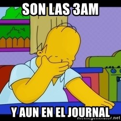 Homer Facepalm - son las 3AM y aun en el journal