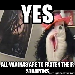 copilot - yes  all vaginas are to fasten their strapons