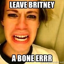 leave britney alone - leave britney  a bone errr