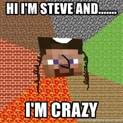 Minecraft Jew - HI I'M STEVE AND....... I'M CRAZY