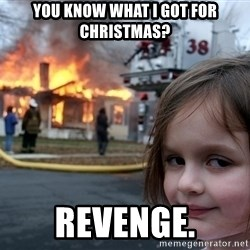 Disaster Girl - you know what i got for christmas? revenge.