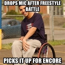 Drake Wheelchair - drops mic after freestyle battle picks it up for encore