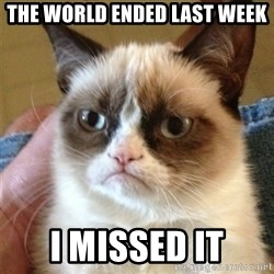 Grumpy Cat  - The world ended last week i missed it