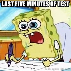 Spongebob What I Learned In Boating School Is - LAST FIVE MINUTES OF TEST