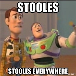 Buzz - STOOLES STOOLES EVERYWHERE
