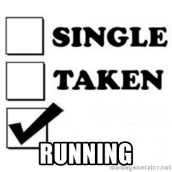 single taken checkbox - Running