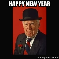 grumpy old man - Happy New Year