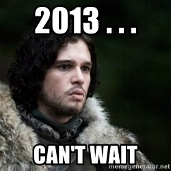 Thoughtful Jon Snow - 2013 . . . Can't wait