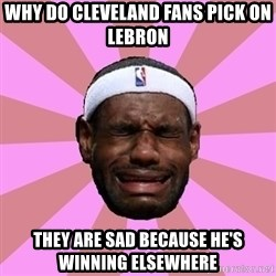 LeBron James - why do cleveland fans pick on lebron they are sad because he's winning elsewhere