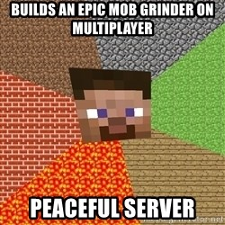 Minecraft Guy - BUILDS AN EPIC MOB GRINDER ON MULTIPLAYER PEACEFUL SERVER