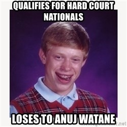 nerdy kid lolz - QUALIFIES FOR HARD COURT NATIONALS  LOSES TO ANUJ WATANE