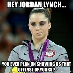 Not Impressed McKayla - HEY JORDAN LYNCH... You ever plan on showing us that offense of yours?