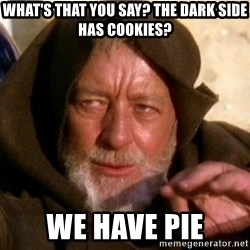 JEDI KNIGHT - What's that you say? The dark side has cookies? WE HAVE PIE