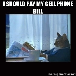 i should buy a boat cat - I should pay my cell phone bill