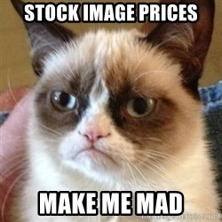 Madcat - Stock image prices make me mad