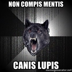Insanity Wolf - non compis mentis canis lupis