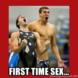Ecstatic Michael Phelps - first time sex...
