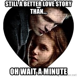 Annoying Twilight Fan  - still a better love story than... oh wait a minute