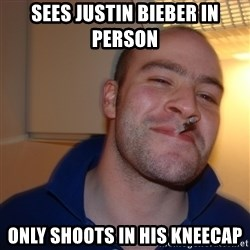 Good Guy Greg - sees justin bieber in person only shoots in his kneecap