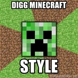 Minecraft Creeper - digg minecraft style